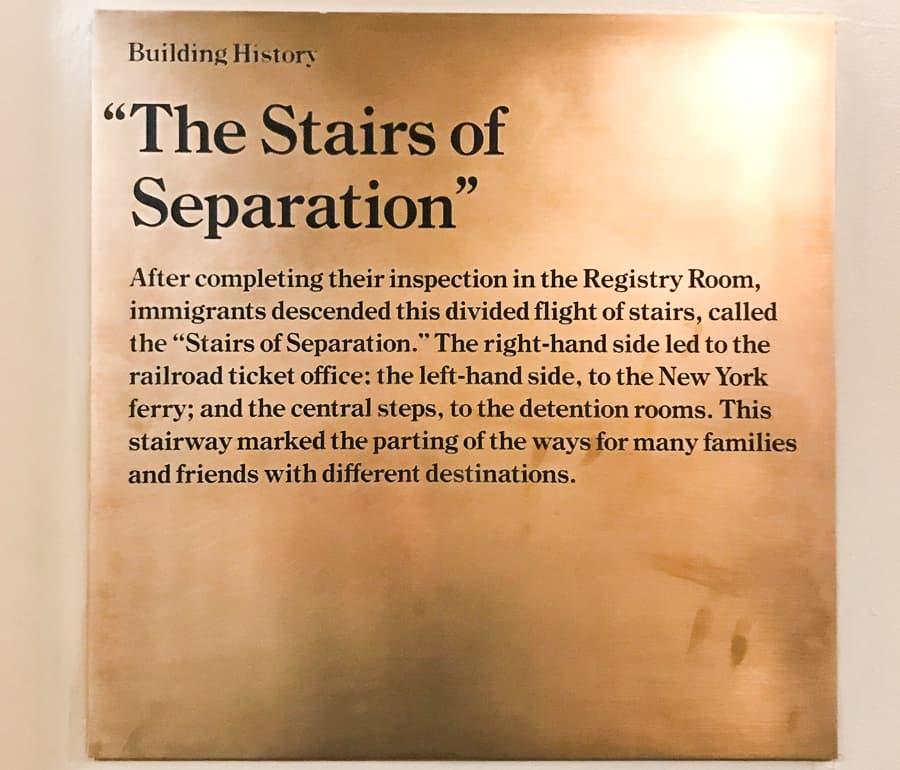 schody separacji Ellis Island