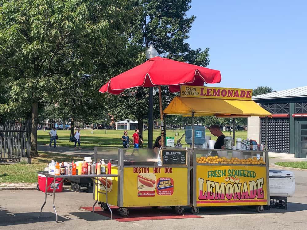 USA budka z jedzeniem lunch